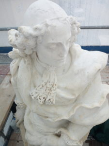 Cesped starts the restoration project of the statues of Palmanova 2