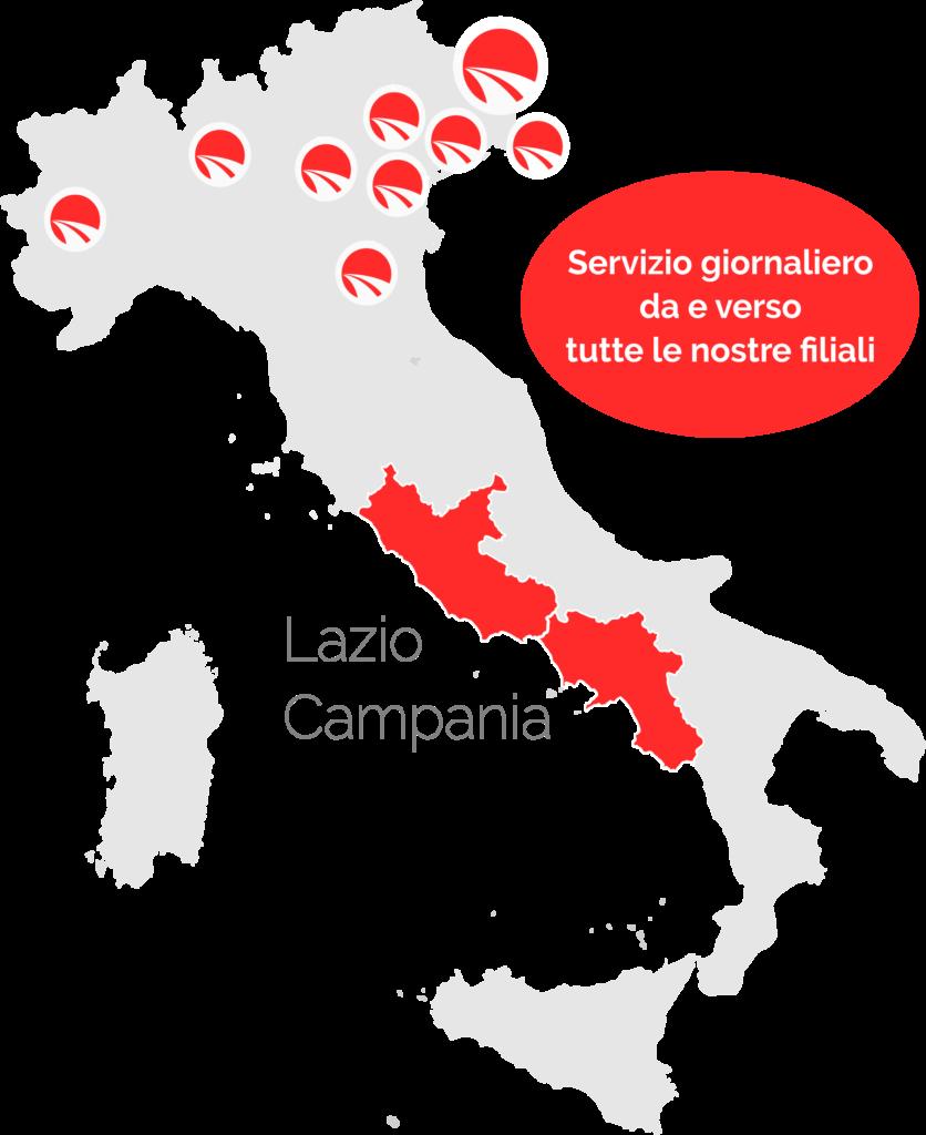 Servizio giornaliero diretto per Lazio e Campania 1