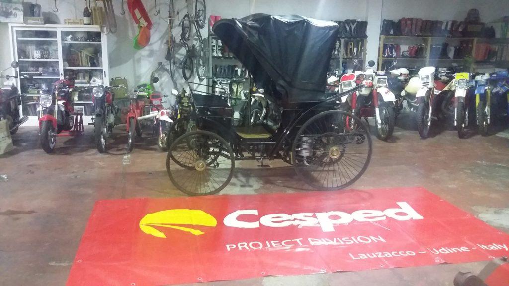 Affidato a Cesped il trasporto dell'auto più antica d'Italia 1